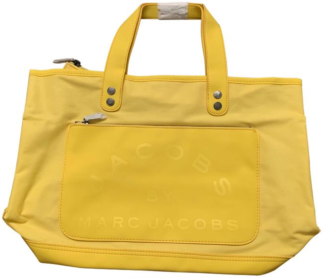 Item - Small Yellow Canvas and Vinyl Tote