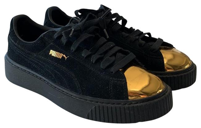 Item - Black with Gold Toe Creeper Sneakers Size US 9 Regular (M, B)