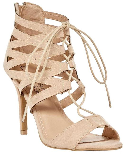 Item - Tan Melissa Heeled Strappy Open Top 8m Sandals Size US 8 Regular (M, B)