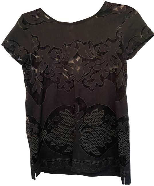 Item - Black Lace Art Deco Blouse Size 0 (XS)