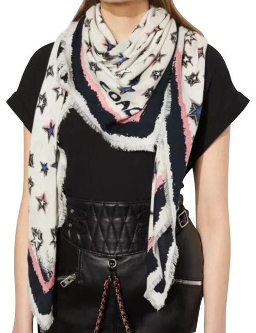 Item - White Skystars Oversized Square 57379 Scarf/Wrap