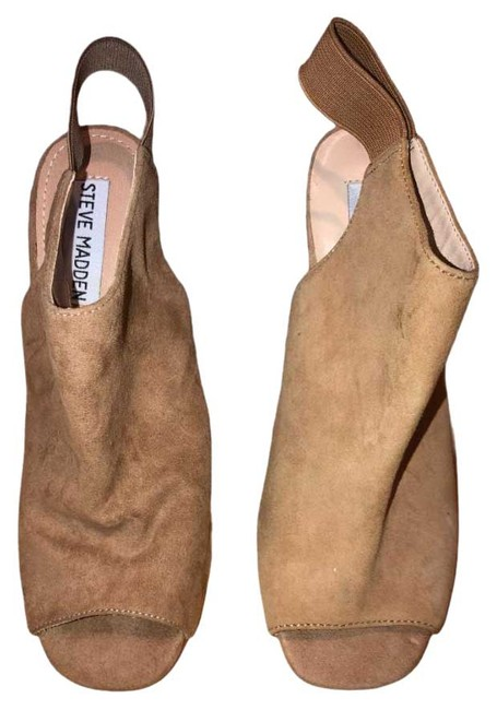 Item - Camel Peep Toe Suede Boots/Booties Size US 6 Regular (M, B)