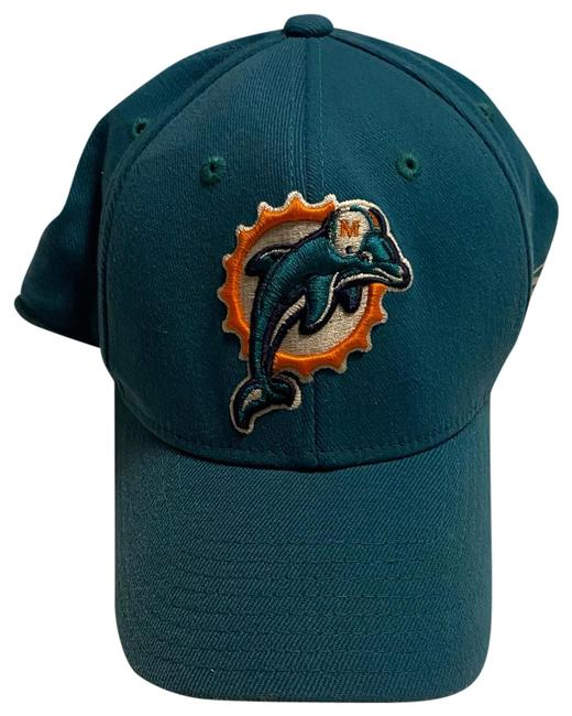 Item - Teal Miami Dolphins Fitted Baseball Cap Hat