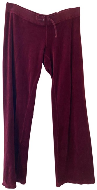 Item - Burgundy Velour Activewear Bottoms Size 6 (S, 28)