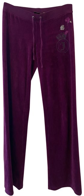 Item - Burgundy Couture/Velour Pants Size 2 (XS, 26)