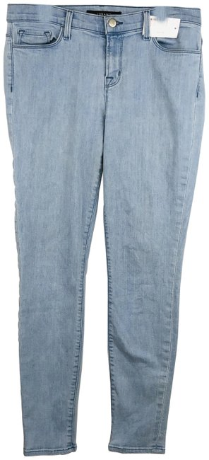 Item - Blue Light Wash With Flaw Skinny Jeans Size 31 (6, M)