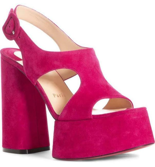 Item - Pink Foolish 130 Suede Heels Sandals Platforms Size EU 37.5 (Approx. US 7.5) Regular (M, B)