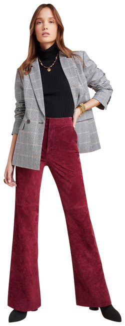 Item - Burgundy Carson Suede Trousers Pants Size 0 (XS, 25)