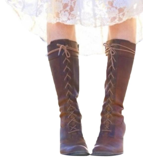 Item - Brown The Villager Tall Distressed Boots/Booties Size US 7 Narrow (Aa, N)