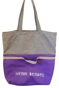 Henri Bendel Tote in Grey, purple