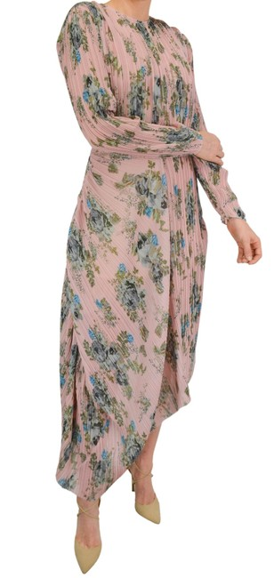 Item - Pink Multiple S Floral Pleated Mid-length Casual Maxi Dress Size 6 (S)