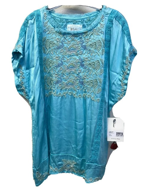 Item - Blue Johnny Was Blouse Size 8 (M)