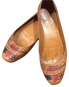 Gucci Ballerina Stylish Tan Flats