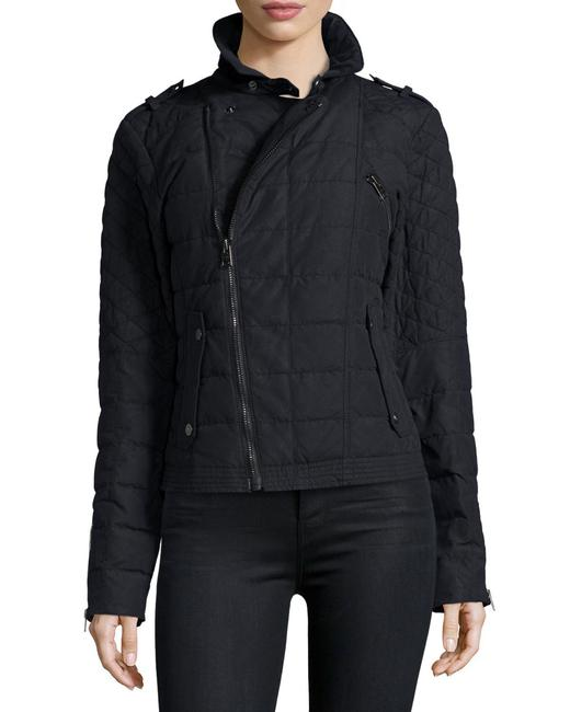 Item - Black Conquest Carly 800-fill Goose Down Moto Jacket Coat Size 4 (S)