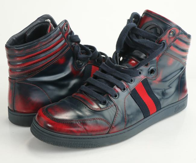 Item - Red/Blue Men's High Top Sneakers Shoes