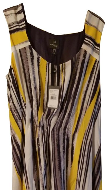 Item - Blue Yellow and White 012233340 Long Work/Office Dress Size 14 (L)