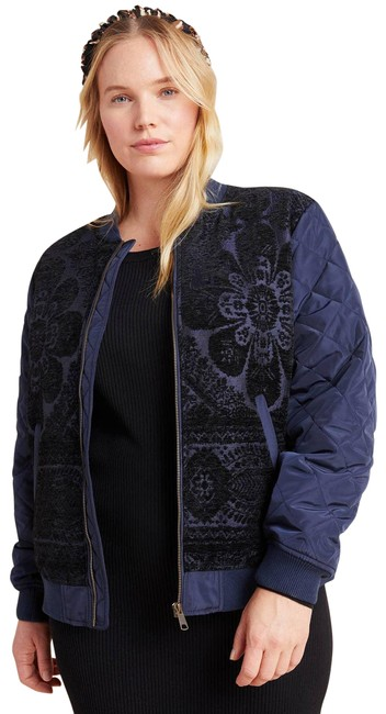 Item - Blue New Clemence Quilted Bomber Jacket Size 22 (Plus 2x)