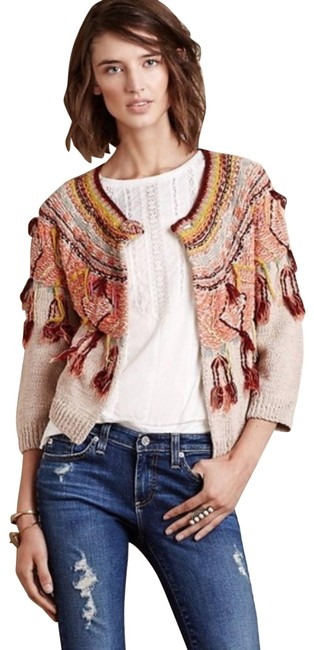 Item - Red Moth Guajava Tassel Fringe Colorful Cardigan Size 6 (S)