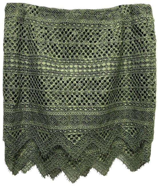 Item - Green Lace Skirt Size 12 (L, 32, 33)