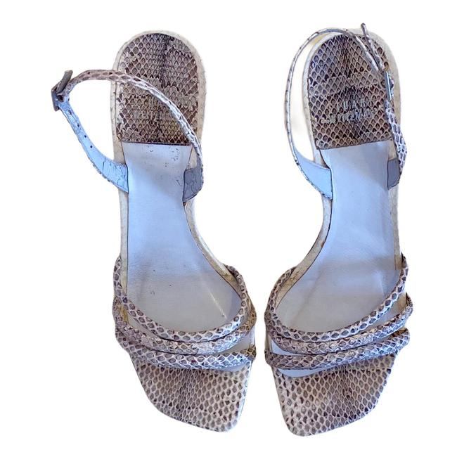 Item - Ivory Gray Tan Sexy Sling Back Sandals Size US 8.5 Regular (M, B)