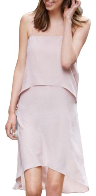 Item - Pink Cream Hi-lo Short Night Out Dress Size 4 (S)