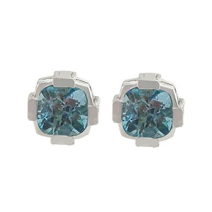 LoveBrightJewelry December Birthstone Blue Topaz Stud Earrings In Sterling Silver