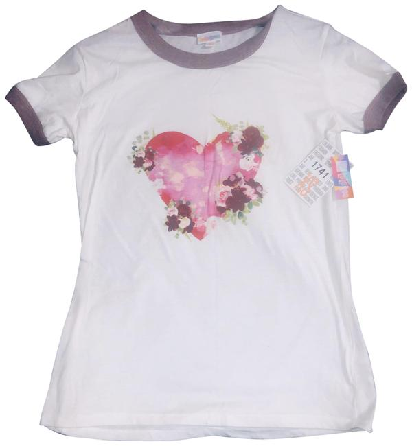 Item - White T-shirt Love Tee Shirt Size 2 (XS)