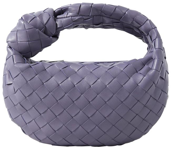 Item - Jodie Mini Knotted Intrecciato Lavender Leather Tote