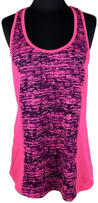 Item - Multicolor L Duodry+ Patterned Front Sleeveless Activewear Top Size 12 (L)