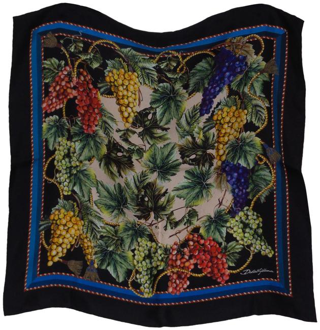 Item - Multicolor Dolce and Gabbana Printed Silk Size Os Scarf/Wrap
