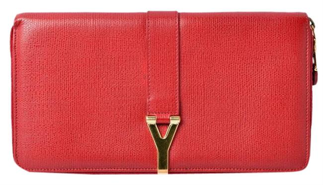 Item - Red Color Travel Case Long Leather Wallet