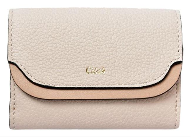 Item - Cream / White Chloé Mini Tri-fold Easy Easy Chc17wp973h8j Abstract Wallet
