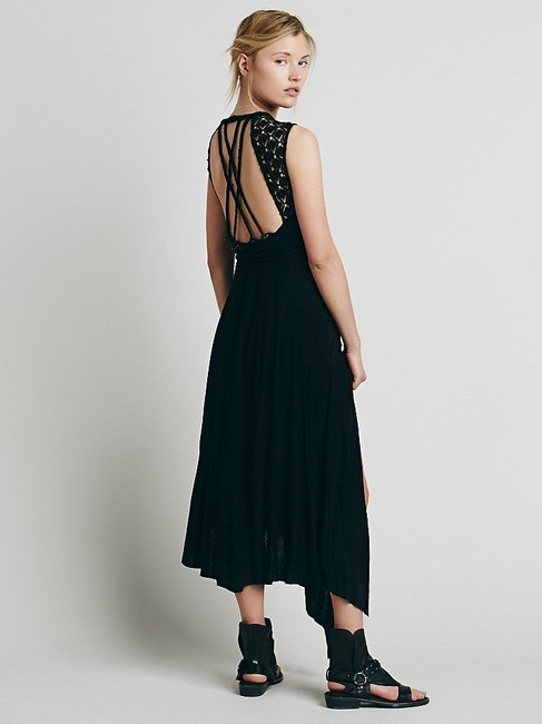 Maxi Dress by Free People Afternoon Delight Asymetrical Braided Straps Medium