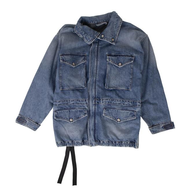 Item - Blue Cotton Caban Jacket Size 2 (XS)