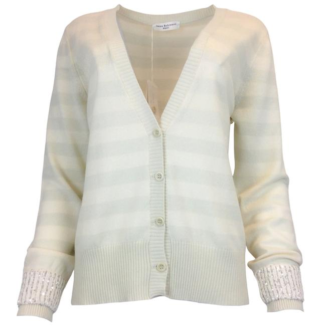 Item - Ivory Cashmere & Silk Sweater Cardigan Size 12 (L)