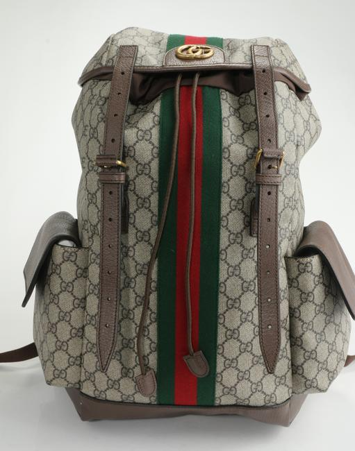 Item - Brown Backpack Ophidia Gg Medium Men's Jewelry/Accessory