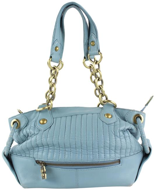 Item - Quilted Chain 13bcb1229 Blue Leather Shoulder Bag
