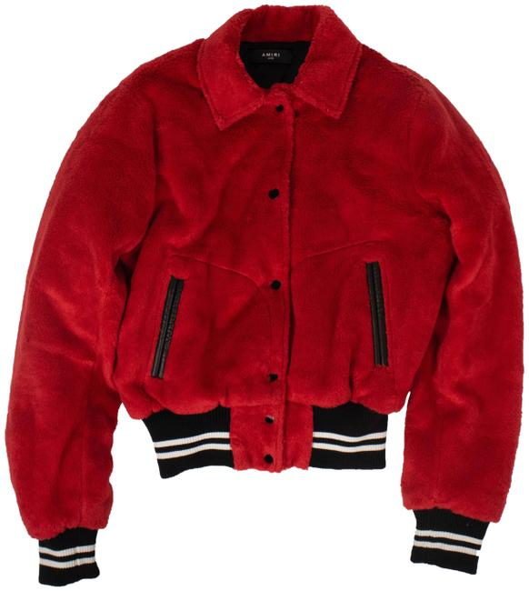 Item - Red Sherpa Band Jacket Size 12 (L)