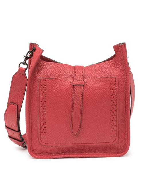 Item - Unlined Feed with Whipstitching Blood Orange Leather Cross Body Bag