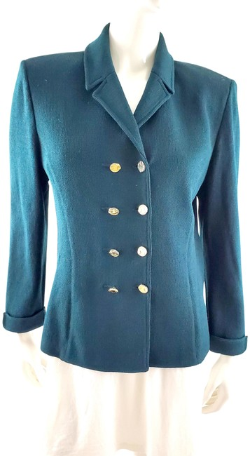 Item - Green Collection By Marie Gray Dark Collared Double Jacket Size 8 (M)