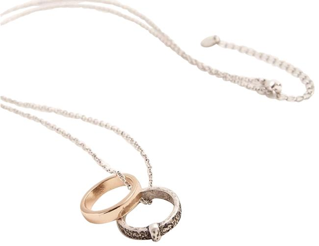 Item - Gold Outlander Wedding Ring Set Silver & Tone Claire Necklace