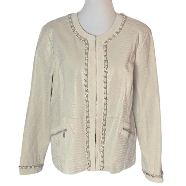 Item - Ivory Chain Jacket Size 14 (L)