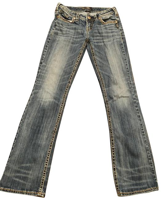 Item - Blue Distressed Aiko Flare Leg Jeans Size 6 (S, 28)