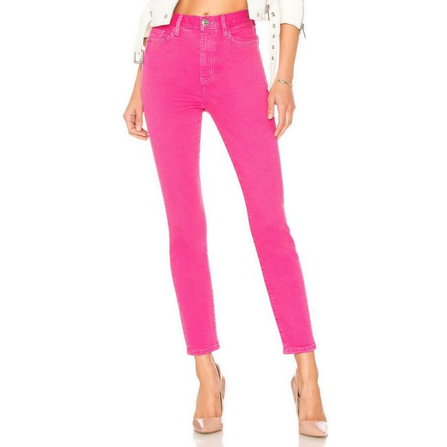 Item - Pink  The Ultra High Waist Ankle Distressed Skinny Jeans Size 27 (4, S)