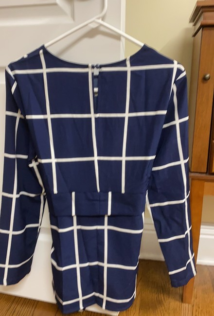 Unbranded Blue Cinched Waist Blouse Size 8 (M) Unbranded Blue Cinched Waist Blouse Size 8 (M) Image 2
