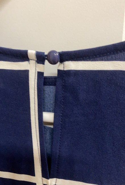 Unbranded Blue Cinched Waist Blouse Size 8 (M) Unbranded Blue Cinched Waist Blouse Size 8 (M) Image 3