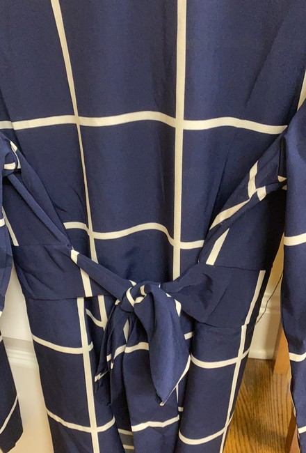 Unbranded Blue Cinched Waist Blouse Size 8 (M) Unbranded Blue Cinched Waist Blouse Size 8 (M) Image 4
