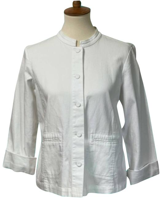 Item - White Womens Small Tailored Jacket with Pockets Blazer Size 6 (S)