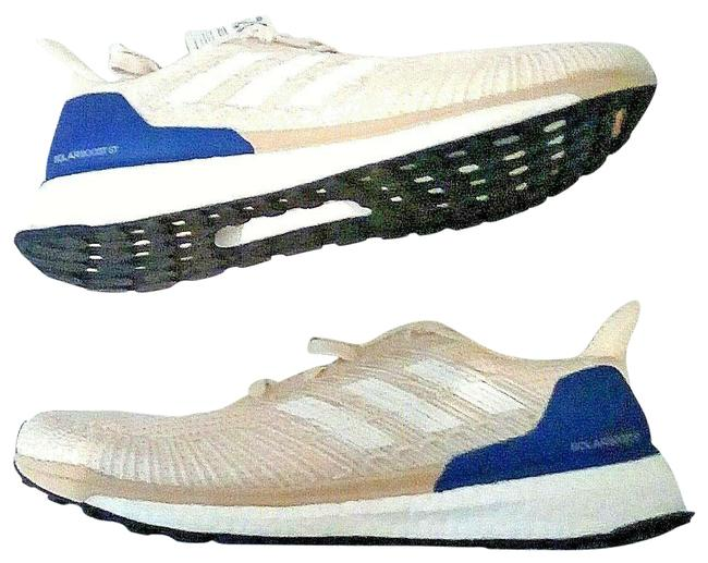 Item - Cream Royal Blue Solarboost Sneakers Size US 9.5 Regular (M, B)