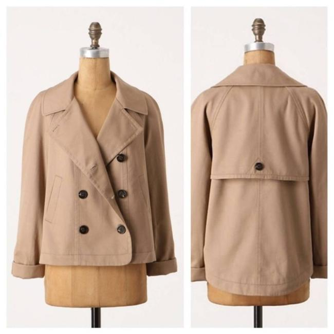 Item - Tan Daughters Of Liberation Colchester Cropped Twill Trench Jacket Size 8 (M)